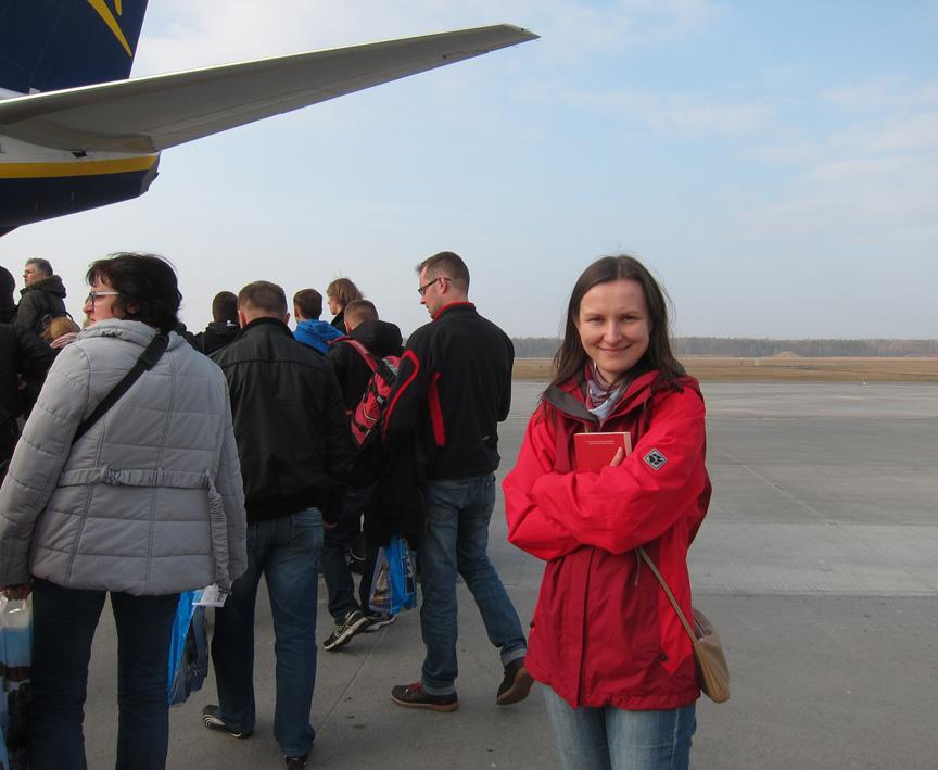 boarding ryanair plane Justyna Whitehead